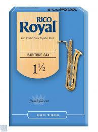 עלים לסקסופון בריטון מס 1.5 – 10 בקופסא Rico Royal
