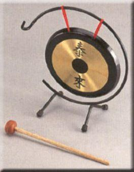 גונג 12 אינצ סיני עם סטנד ומתוף Power beat SGN-12