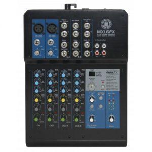 מיקסר 6 ערוצים עם אפקטים Topp Pro MXI6FX