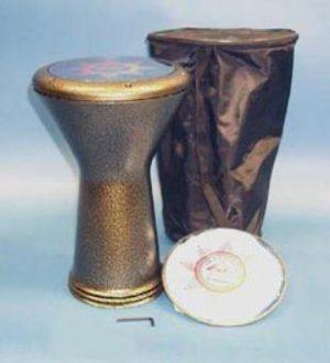 דרבוקה סורית גדולה צבועה כולל תיק ועור להחלפה
