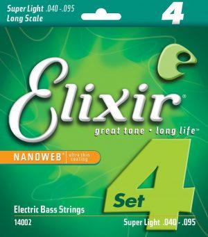 סט מיתרים לגיטרה בס 040 Elixir Nanoweb