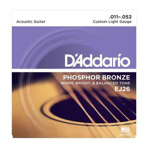סט מיתרים לגיטרה אקוסטית 011-052 DAddario EJ26
