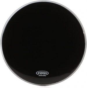 עור שחור לתוף בס 20 Evans EQ3 Black Resonant Bass No Port