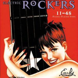 מיתרים לגיטרה חשמלית Everly Rockers 011-048