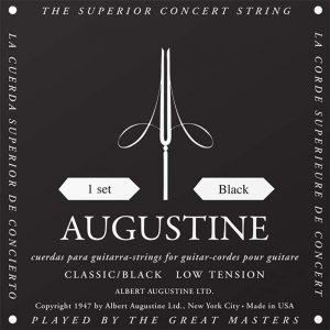 סט מיתרים לגיטרה קלאסית אוגוסטין שחור Augustine classic black