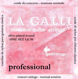 סט מיתרים לגיטרה קלאסית GALLI LG50 NORMAL