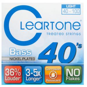 סט מיתרים לגיטרה בס Cleartone 6440 EMP Nickel Plated 40-100