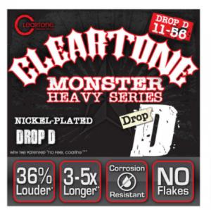 סט מיתרים לגיטרה חשמלית Cleartone 9456 EMP Nickel Plated Drop D 11-56