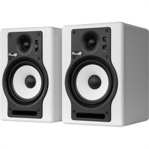 זוג מוניטורים אקטיביים Fluid Audio F5 לבן