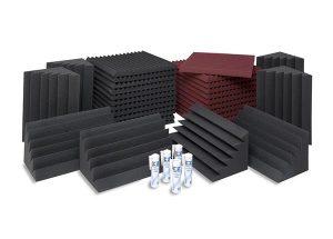 חבילת ספוגים לאקוסטיקה לחדר צבע אדום EZ Foam Acoustic Pack Medium