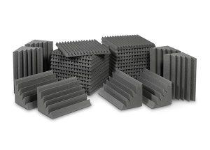 חבילת ספוגים לאקוסטיקה לחדר צבע אפור EZ Foam Acoustic Pack Medium