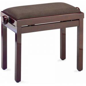 כיסא פסנתר חום מהגוני מבריק ריפוד קטיפה  Stagg PB39 MHP VBR