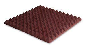 ספוג אקוסטי אדום פירמידות  Ez acoustics PYRAMIDAL 5 60 x 60 x 5 cm