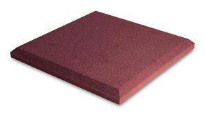 ספוג אקוסטי אדום שטוח EZ FOAM FLAT 60 x 60 x 5 cm Ez acoustics