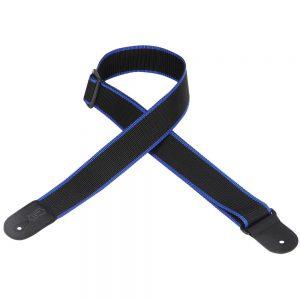 """רצועה לגיטרה בצבע שחור / כחול """"2 LEVY'S M8POLY-BKB"""