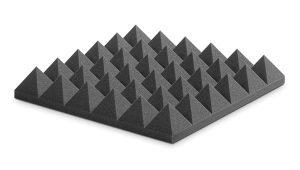 ספוג אקוסטי אפור פירמידות PYRAMIDAL 10 EZFOPY10CH 60 x 60 x 10cm Ez acoustics