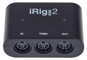 ממשק מידי USB לפלאפון ומחשב IK Multimedia iRig MIDI 2