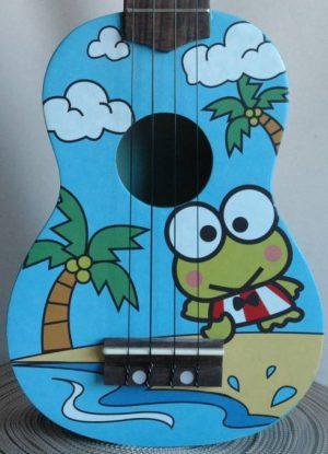 יוקללה סופרן עם גרפיקת צפרדע Aloha UK300P
