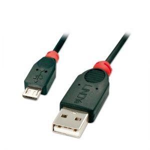 כבל USB 2.0 A – Micro B באורך 3 מטר Lindy