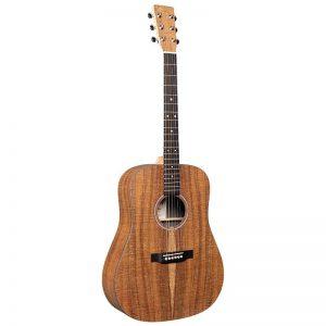 גיטרה אקוסטית מוגברת + נרתיק MARTIN DX1E-01 Koa-pattern
