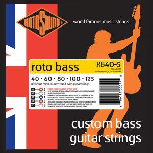 סט מיתרים לגיטרה בס 5 מיתרים Roto Rb40-5