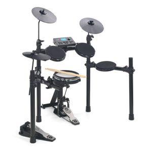 מערכת תופים אלקטרונית כולל כיסא וזוג מקלות Hitman HD-17
