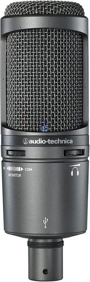 מיקרופון USB אולפני כולל יציאת מוניטור ולאוזניות +Audio Technica 2020 USB