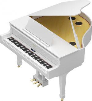 פסנתר כנף חשמלי בצבע לבן מבריק Roland GP609