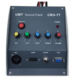 מגבר דיגיטאלי עם קופסת חיבורים לכיתות כולל IR להפעלת מקרן  UMT