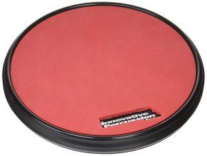 פד גומי גמיש בצבע אדום עם קצוות שחורים לאימון Innovative Percussion RP1R