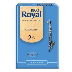 עלים לקלרינט בס מס 2.5- 10 בקופסא Rico Royal
