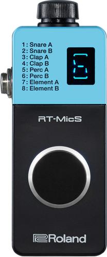 יחידת סאמפלר, טריגר, מיקרופון ומודול קומפקטית לשילוב דגימות בנגינה עם תופים אקוסטיים Roland RT-MicS