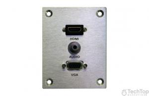 פנל חיבור PL 3.5, VGA , HDMI