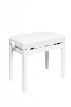 כיסא פסנתר לבן מאט ריפוד קטיפה Stagg PB36 WHM VWH