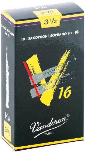 עלים לסקסופון סופרן V16 מספר 3.5 – 10 בקופסא Vandoren SR7135