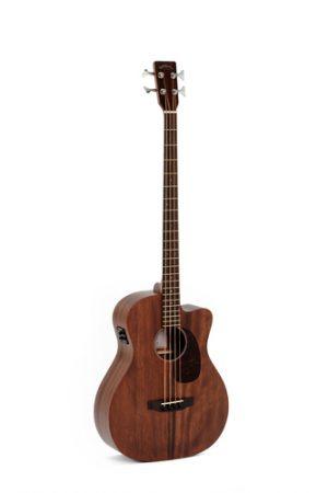 גיטרה בס אקוסטית מוגברת SIGMA BMC-15E CUTAWAY Mahogany
