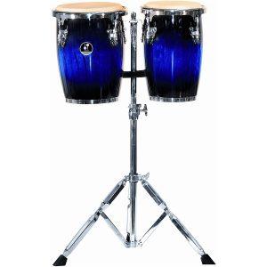 זוג מיני קונגס כולל סטנד SONOR 9 & 10 Mini Conga Blueburst High Gloss Hevea Wood