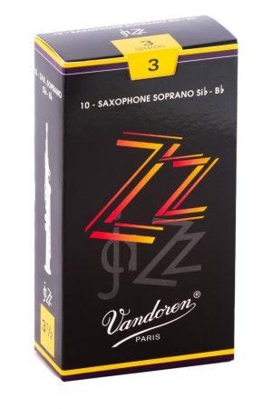 עלים לסקסופון סופרן ZZ Jazz מספר 3 – 10 בקופסא Vandoren SR403
