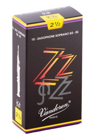 עלים לסקסופון סופרן ZZ Jazz מספר 2.5 – 10 בקופסא Vandoren SR4025