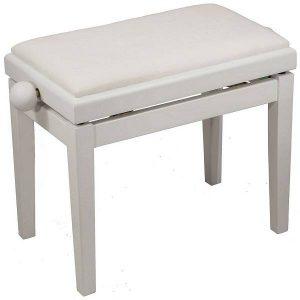 כיסא פסנתר Albert FS202KZ בצבע לבן
