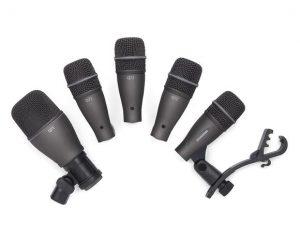 סט 5 מיקרופונים לתופים עם ארגז SAMSON DK705