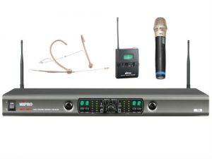 מיקרופון אלחוטי ידני וראש Mipro SET ACT-100 HM