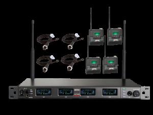 מערכת אלחוטיית 4 משדר כיס ומיקרופון Mipro SET ACT-848 4S MU55L