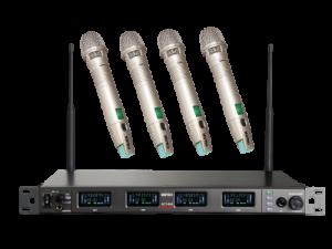 מערכת אלחוטיית 4 מיקרופונים ידניים Mipro SET ACT-848 4H
