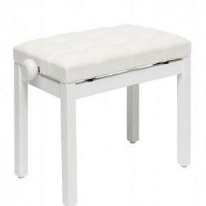 כיסא פסנתר לבן מאט ריפוד דמוי עור Stagg PB36 WHM SWH