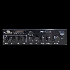 מגבר קומפקטי שתי כניסות כולל נגן JADE PA180HZ 60W 100V USB/SD/BT