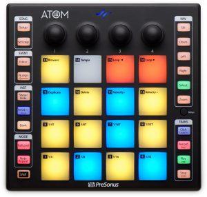 משטח שליטה נייד להפקה מוסיקלית PreSonus ATOM