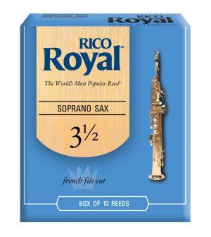 עלים לסקסופון סופרן מס 3.5 – 10 בקופסא Rico Royal