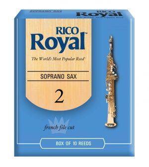 עלים לסקסופון סופרן מס 2 – 10 בקופסא Rico Royal