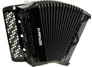 אקורדיון כפתורים Roland FR-4XB בצבע שחור